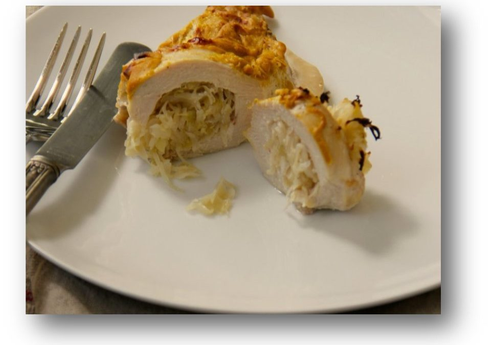 Mustard Chicken Stuffed with Sauerkraut Recipe
