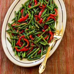 Roasted Green Beans and Red Peppers Recipe