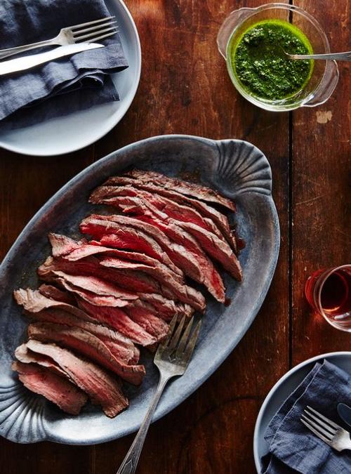 Flank Steak with Green Sauce Recipe