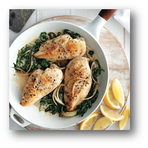 Chicken with Spiced Spinach Recipe