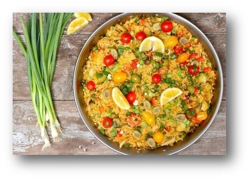 Cauliflower Rice Paella Recipe