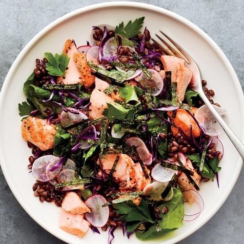 Salmon and Kale Salad Recipe