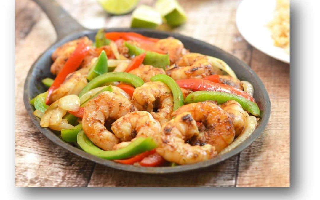 Spicy Shrimp Fajitas Recipe