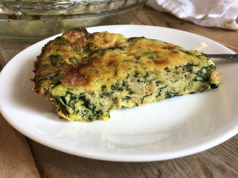 Spinach and Sausage Frittata Recipe