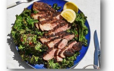 Grilled Pork Shoulder with Mustard Greens Recipe