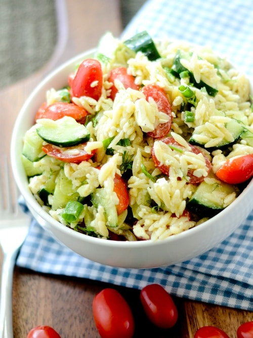 Lemon Dill Orzo Salad Recipe
