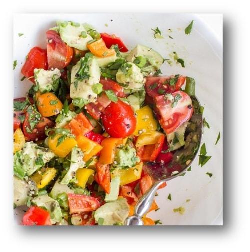 Three Pepper Salad Recipe