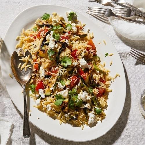 Grilled Zucchini Orzo Recipe